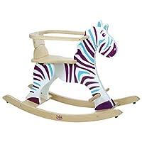 Vilac 1026 Rocking Zebra and Removable Hoop, Multi-Color