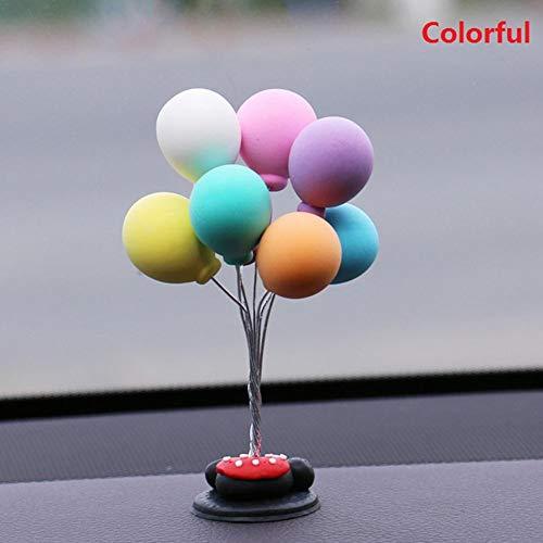 IrahdBowen Solar Spielzeug Powered Car Dekoration Innovative Automatische Schaukel Ballon Niedlichen Cartoon Auto Mini Ballon Auto Zubehör Cartoon Kopf Schütteln Puppe Innovative Auto Ornament