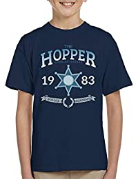 Cloud City 7 Stranger Things Hopper Police Academy Kid s T-Shirt 97e23fa02f0