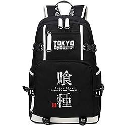 QP21515 Mochila Japonesa para Cosplay, Mochila para Estudiantes, Mochila para Libros, para Cosplay Tokyo Ghoul