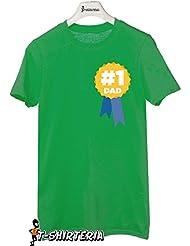 t-shirt día del padre tamaño pequeño, diseño de muñeco número 1, diseño de mujer todas las tallas by tshirteria Camiseta para hombre verde Talla:XL (9-11 años)