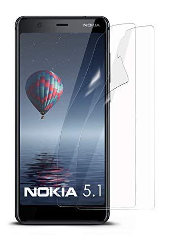 moex 2X Nokia 5.1 | Schutzfolie Klar Display Schutz [Crystal-Clear] Screen Protector Bildschirm Handy-Folie Dünn Displayschutz-Folie für Nokia 5.1 Displayfolie (Nokia X Screen Guard)