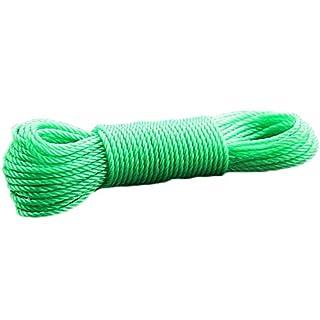 Hongfutong Tough Thick Windproof Washing Line Washing Cloth Rope/Cord LongLife Plastic Nylon Rope (20 meters green)