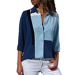 d5f99991ac0d Anmain Primavera Pulsante Camicie Camiceria Donna