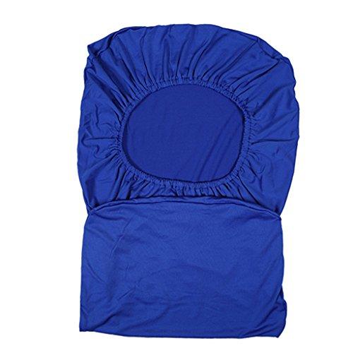 FITYLE Sitzbezug Stretch, Husse für Bürostuhl Chefsessel Drehstuhl, Einheitliche Größe - Blau