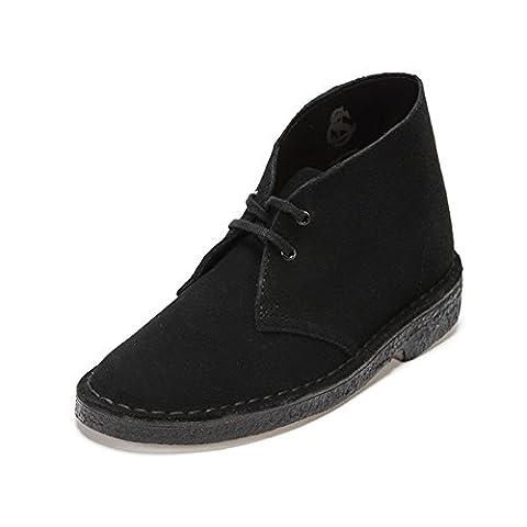 Clarks Originals Desert, Boots femme - Noir (Black), 39 EU (5.5 (Clarks Womens Desert Boot)