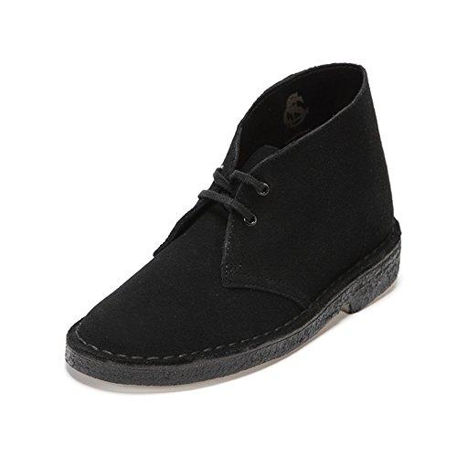 Clarks Wallabee, Sneakers Basses Femme, Noir (Black), 41.5