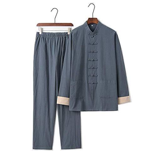 Tai Chi Anzug Chinesische Kung Fu Kleidung Tai Chi Kleidung Atmungsaktive Tai Chi Uniform Warmhalten Kung Fu Qi Gong Kleidung Kampfkunst Kleidung Gruppe Leistungskleidung Tang Anzug,Grey-XXXL