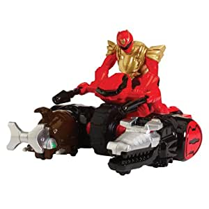 Power Rangers Megaforce Crocodile and Beetle Zord Vehicle with Super Figure (Red)
