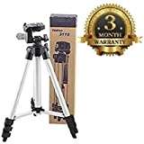 SANNIC Premium Tripod-3110 40.2 Inch Portable Camera Metal Tripod With Three-Dimensional Head & Quick Release Plate,105 Cm Long Dslr/Mobile/Gopro Action Camera/Digital 3 Way Pan & Tilt Camera Tripod - Light Weight Pro Travel Portable Camera Tripod
