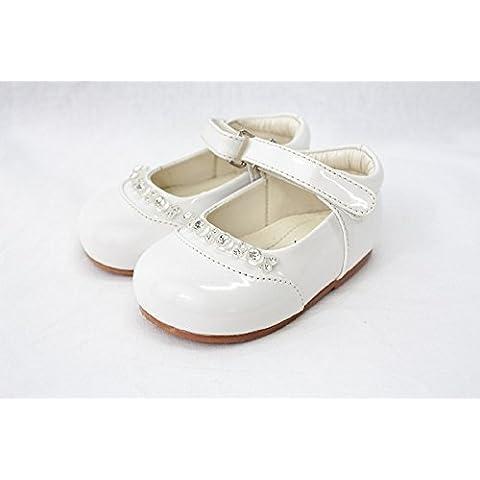 Bahía Pod patente zapatos con diamantes–blanco tamaño 1(3–6meses)