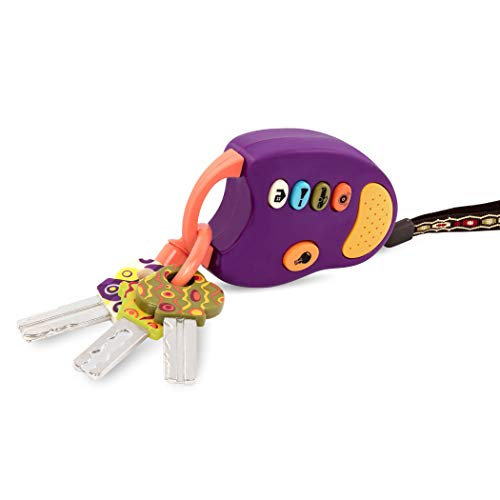 B. toys - Funkeys - Bunte Spielzeugschlüssel für Kinder und Babys - Autoschlüssel Spielzeug mit rotem Licht und Geräuschen - 100{ffbcf05e6660607bae2106977507995a79bf20fe20a7ccbef10b0870a9eab518} Schadstofffrei