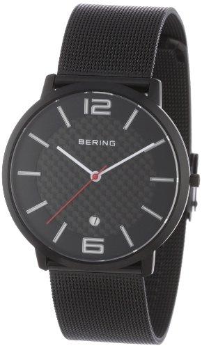 Bering-Time-11139-222-Reloj-analgico-de-cuarzo-para-hombre-con-correa-de-acero-inoxidable-color-negro