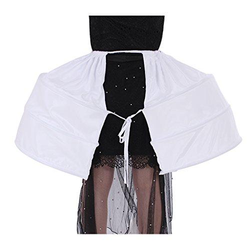 COUCOU Age Petticoat Unterrock Krinoline Underskirt Rokoko Viktorianisch Bustle Kleid Zubehör -