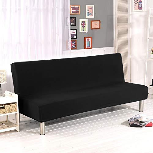 Cornasee copridivano clic clac 3 posti,fodera per cuscino elastica per divano letto pieghevole senza braccioli,nero