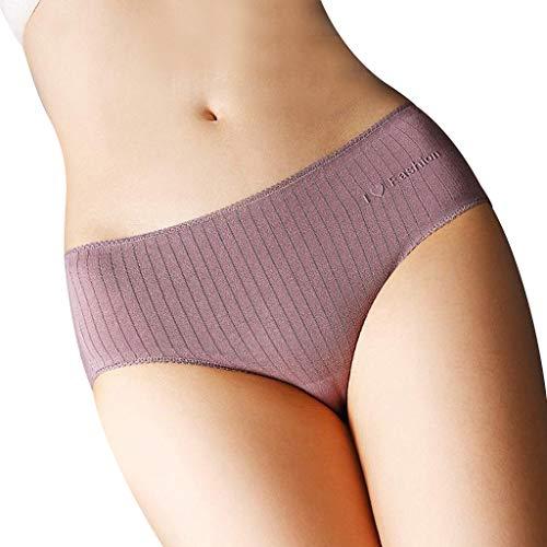Heerey Mode Unterwäsche, Damen Dessous einfarbig Öffnen Sie Tanga Höschen G-Pants Dessous Pyjamas Taille Streifen Epoxy Lace Trim Frauen Dreieck Höschen - Lace Trim Kurze Höschen