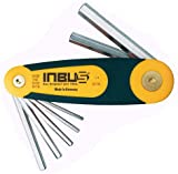 INBUS® 70402 Inbusschlüssel Zoll Set im Klapphalter 6tlg. 3/32-5/16'   Made in Germany   Innensechskant-Schlüssel   Winkel-Schlüssel   3/32   1/8   5/32   3/16   1/4   5/16   Inch   Imperial