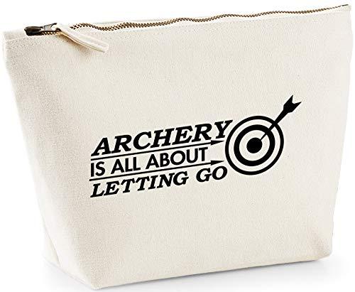 7b725580f Hippowarehouse Archery It's All About Letting go Bolsa de Lavado cosmética  Maquillaje Impreso 18x19x9cm