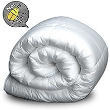 Bertha hogar - Nórdico antiácaros 400gr. mash(240x220 cm, cama 150), color blanco
