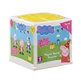 Unbox Peppa Pig party fun with Peppas Secret Surprise! Unwrap the bright coloured box, to find secret drawers with 6 surprises inside! Each box includes a figure with glittery party dress, party hat, large party accessory, present, gift box a...