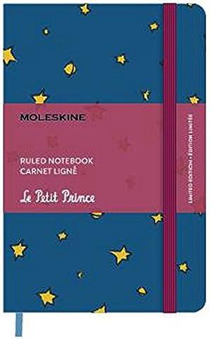 Petit prince carnet bleu etoiles poche ligne