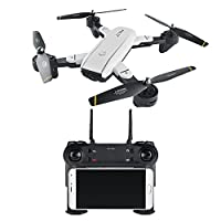 SODIAL SG700 FPV RC Quadcopter RC Drone 2.4G 4CH 6-Axis Headless Mode Altitude Hold,Foldable RC Helicopter,15 pcs