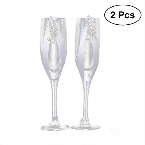 eit Becher Weingläser Champagner Flöten Toasten Gläser (JB-94) ()