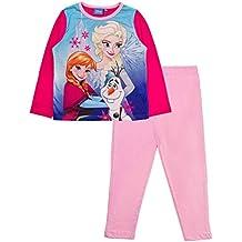 Pijama de 2 piezas para niños de la Reina Elsa Anna Frozen de Disney, de