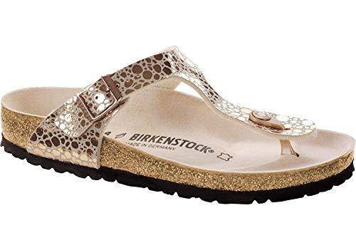 BIRKENSTOCK Damen Gizeh Birko-Flor Schmal Kupfer Leder Sandalen 38 (Birkenstock 38 Gizeh)