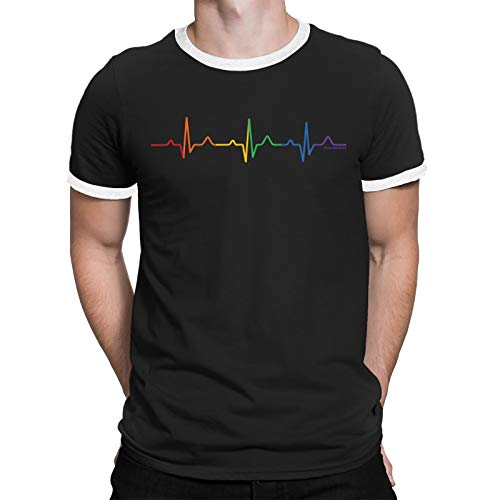 18b9156f30237c FreeWillShirts Gay Pride T-Shirt - Gay Pulse - Unisex Mens Ladies LGBT 2019