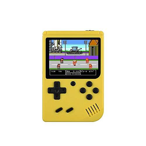 YouN RS-6A Retro-Spielekonsole 8-Bit 3.0 Zoll Eingebaute 168 Spiele (Gelb)
