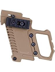 Huenco Taktische Pistolen-Karabiner-Kit Magazinkampf-Kit Glock Mount-Ladegerät für CS G17 18 19 Zubehör für Pistolen