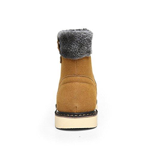 WZGLes nouvelles couleurs solides, plus velours chaud bottes hommes haut-dessus des bottes occasionnels modèles bottes de neige hiver antidérapantes golden yellow