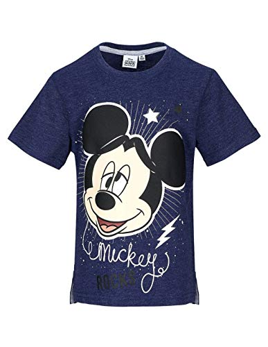 Mickey Mouse Camiseta de Manga Corta - Manga Corta - para Niño Azul M