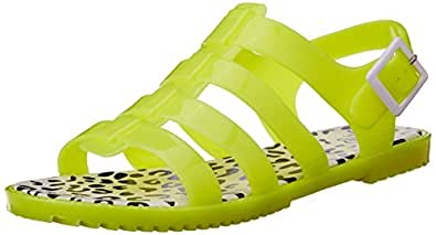 YO! JELO! Women's Kerri Yellow Fashion Sandals - 3 UK (CLL-2991)