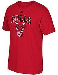 "Chicago Bulls Adidas NBA ""Bank Shot"" Men's Short Sleeve T-Shirt"