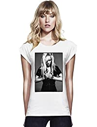 Britney Spears Hot Candies Womens Continental Rolled Sleeve T-Shirt