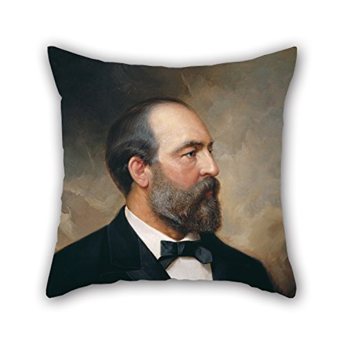beautifulseason 18 X 18 Inch/45 by 45 cm Oil Painting Ole Peter Hansen Balling - James Garfield Throw Pillow Case,Double Sides is Fit for Lover,Saloon,Shop,Living Room,Christmas,Office