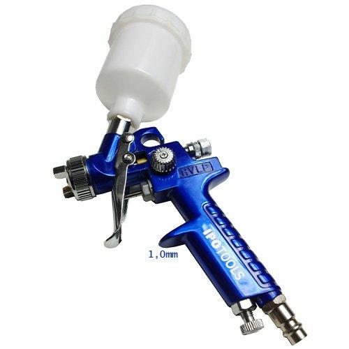 Preisvergleich Produktbild Ipotools Mini HVLP H2000 Lackierpistole Spritzpistole, Profi Farbsprühsystem mit 125 ml Plastikbecher und Edelstahldüse 1,0 mm