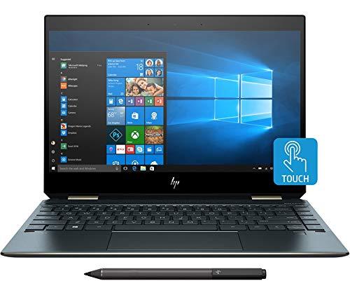 "HP Premium Spectre x360 13-ap0001nl Notebook Convertible, i5-8265U, 8 GB di RAM, SSD da 256 GB, Schermo Touch 13"" FHD IPS Micro-Edge, Blu Poseidon"