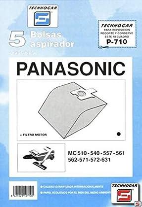 Tecnhogar - Caja 5 Bol. Asp.Panason. Mc-571-572