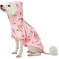 Blueberry Pet 2019 New Spring Scent Inspired Daisy Flower Pullover Dog Hooded Sweatshirt in Baby Pink, Back Length 25cm, Pack of 1 Clothes for Dogs