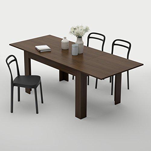 Mobilifiver easy tavolo da pranzo allungabile fino a 220 cm, legno, noce canaletto, 140 x 90 x 77 cm