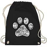 Hunde - High Five Hunde Pfote - Unisize - Schwarz - WM110 - Turnbeutel & Gym Bag