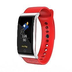 Nicerio F4 Smart Armband Fitness Tracker Ip67 Wasserdichte Schrittzähler Kalorien Kontinuierliche Pulsmesser Smart Armband (Rot)