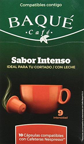 Cafés Baqué Cápsulas Compatibles Nespresso Sabor Intenso - 50 gr - , Pack de 6