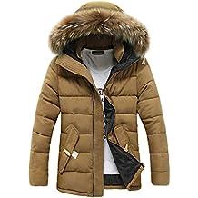 UOMOGO Giacconi Invernali Uomo Giaccone con Cappuccio Caldo Giacche Slim  Fit Cappotto f3e9f6206d1