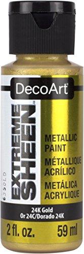 Deco Art Americana Extreme Glanz Jar der Farbe, Acryl, schwarz Gold, 3,5x 3,5x 10cm