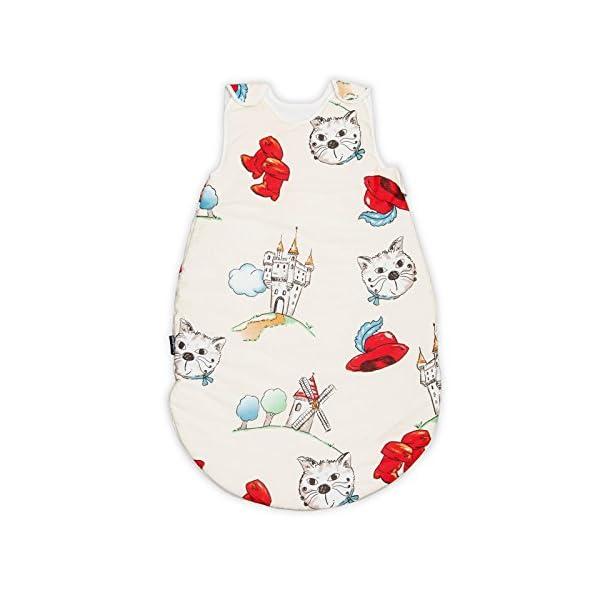 Tommy (El gato con botas) 100% Algodón Pati'Chou Sacos de dormir para bebés 24-36 meses (110 cm,0.5 tog) – verano