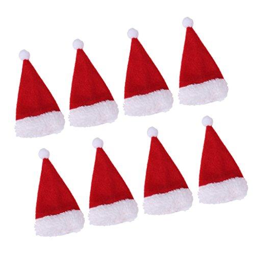 Sharplace 8x Cappello Di Bottiglia Di Vino Copertura Di Tappo Cappellino Di Babbo Natale Decorazione